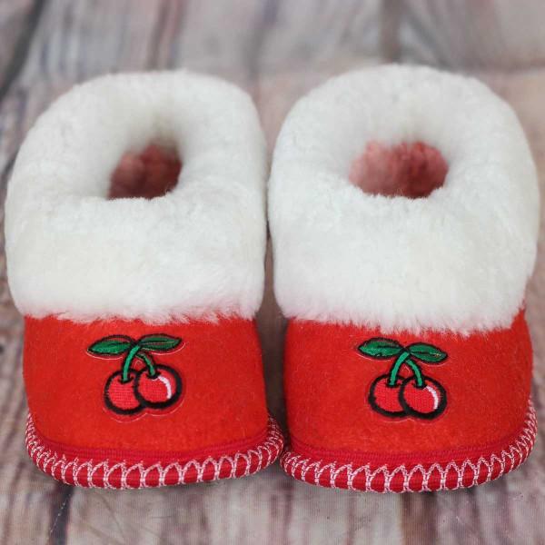 `Cherry` children`s slippers
