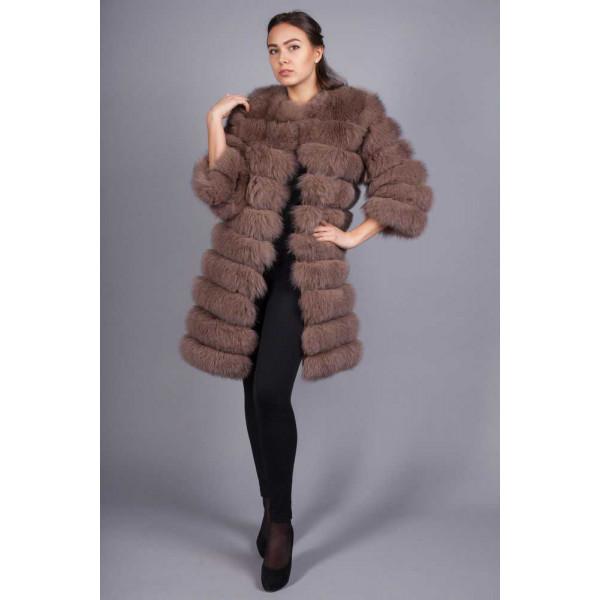 Diana Arctic fox fur coat
