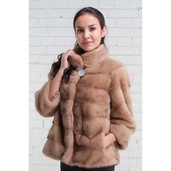 Olga stylish mink fur coat