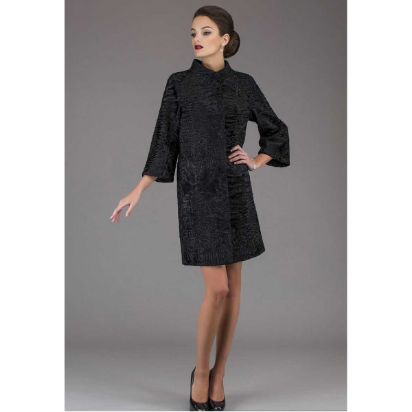 Sofia astrakhan fur coat