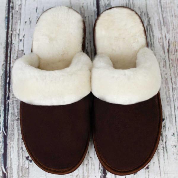 Brown&White Napoleon Slippers